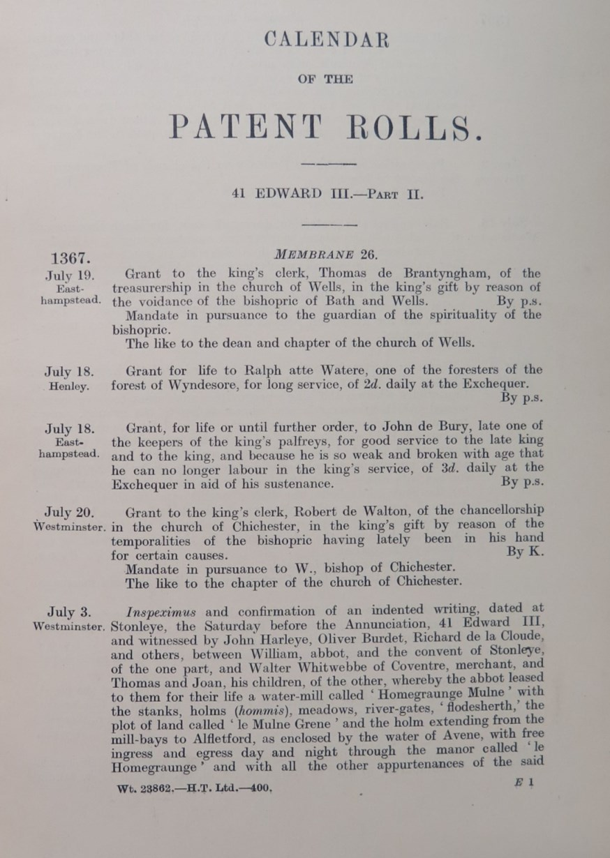 Page from a calendar showing the different data contained in the document
