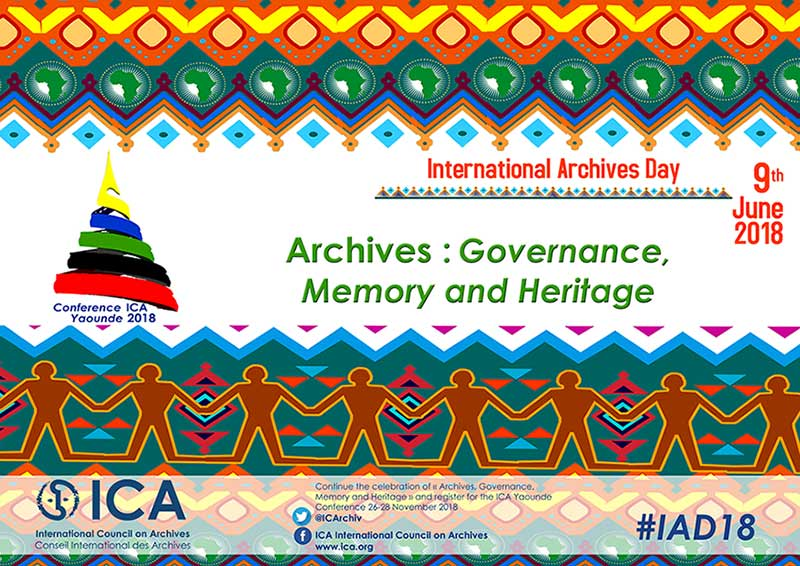 International Archives Day, 9 June 2018. Archives: Governance, Memory and Heritage