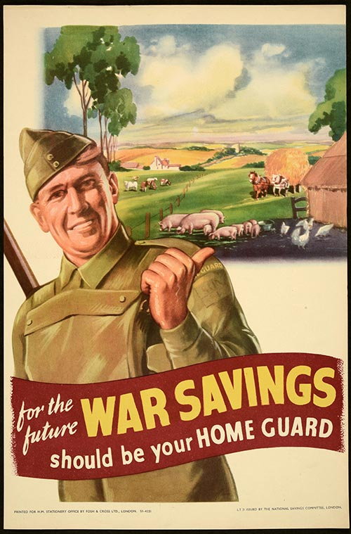 'For the future War Savings should be your home guard' poster. Catalogue reference NSC 5/1037