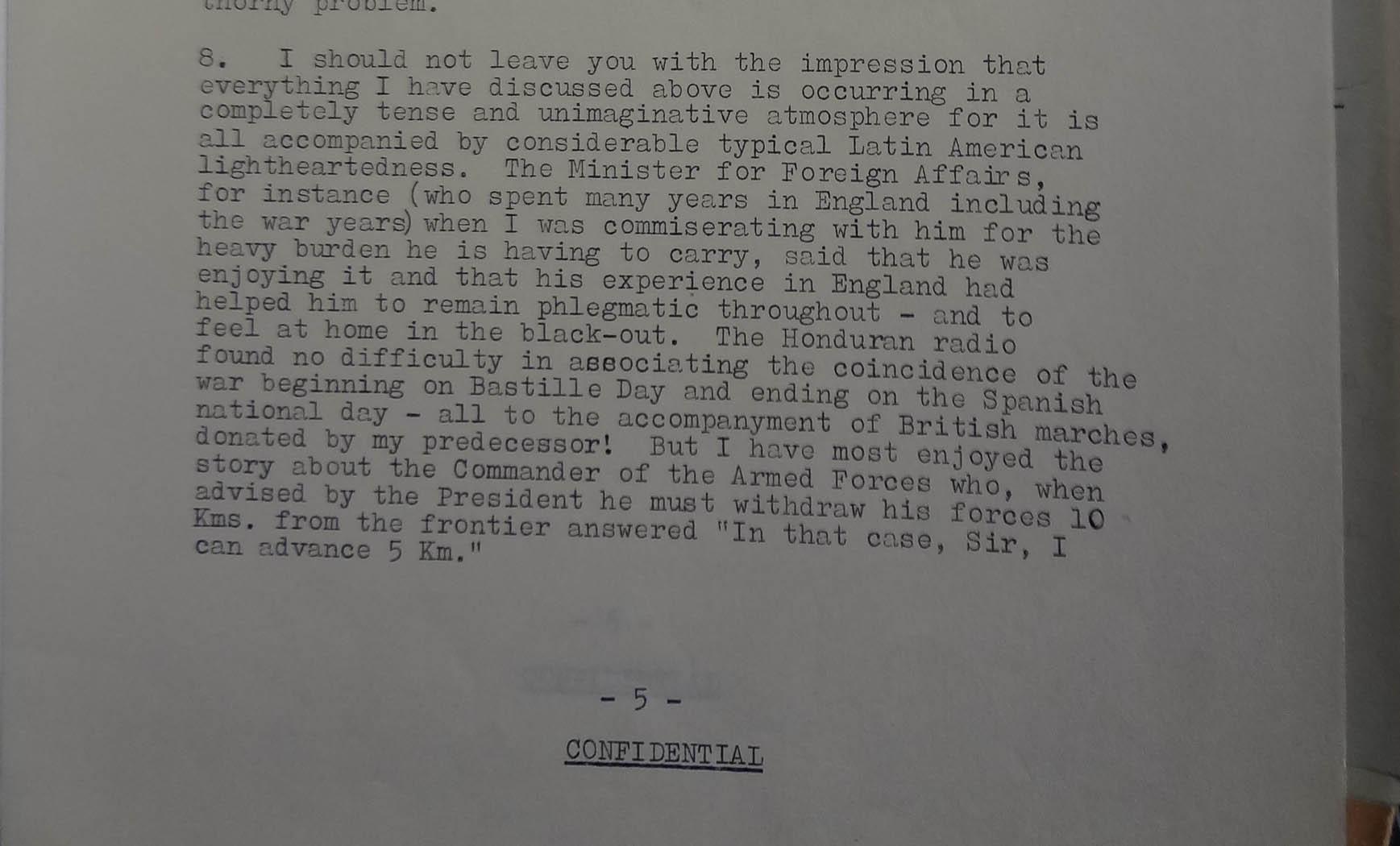 L'Estrange to Wiggin, 23 July 1969 (catalogue reference: FCO 7/1211)