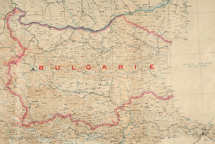 Map of Bulgaria. TNA reference FO 925/21109.