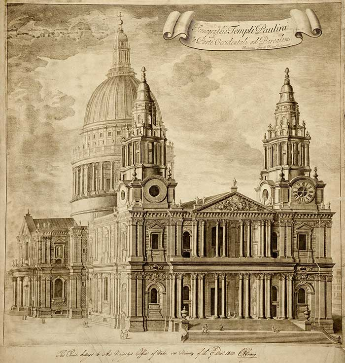 St Paul's Cathedral illustration, 1813. The National Archives, WORK 38/166