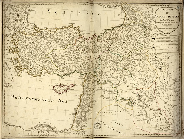 Ottoman Empire: Map of turkey in Asia. Catalogue reference SP 112/91