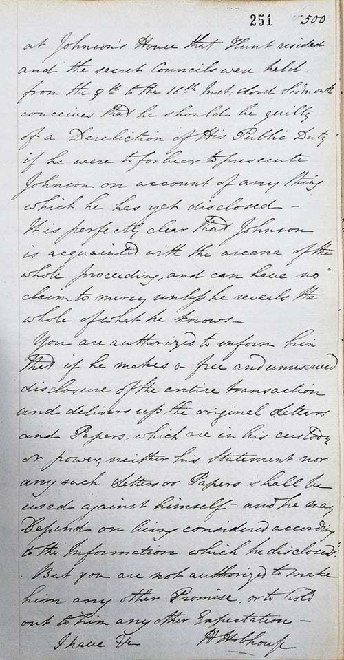Letter response to the Rev. William Hay