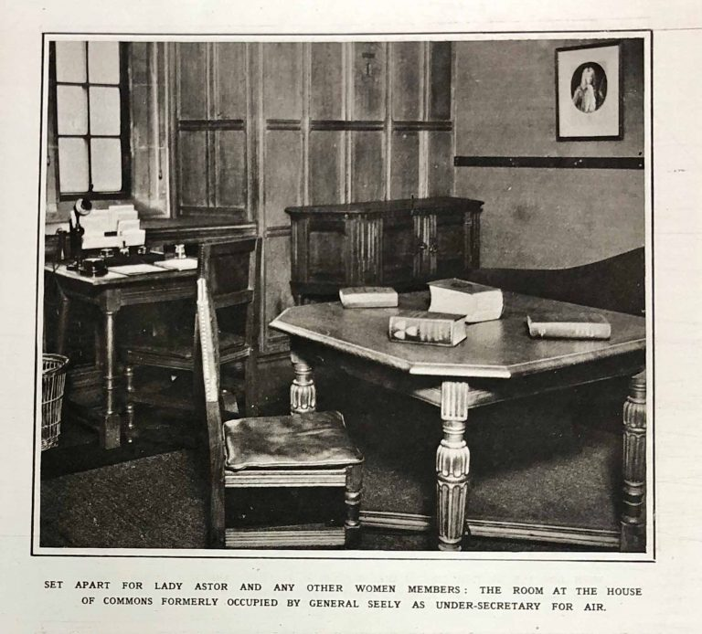 ZPER 34/155 Image of the Lady Members Room, Illustrated London News, 1919.