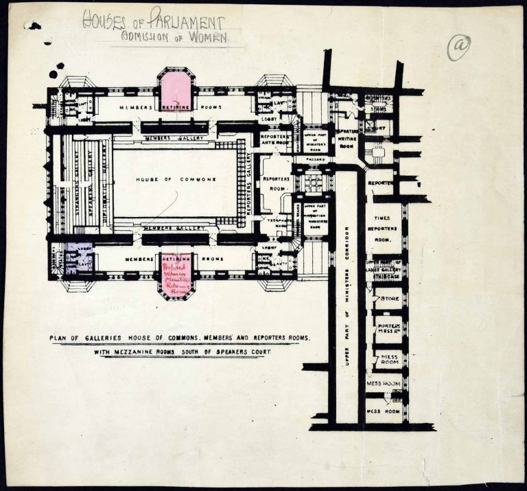 WORK 11/237 Plan of proposed changes to the House of Commons after the admission of women