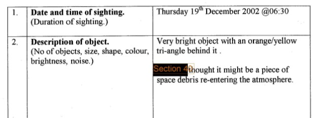 Very bright object over Chaldon, Surrey. Catalogue Ref: DEFE 24_2035_1