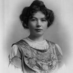 Photograph of head & shoulders of Miss Christabel Pankhurst, 1910. Reference: COPY 1/550/238.