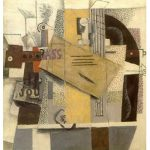 'Verre, Violon et Bouteille de Bass' by Picasso