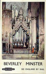 AN 14/114 British Railways Beverley Minster poster, artist Kenneth Steel