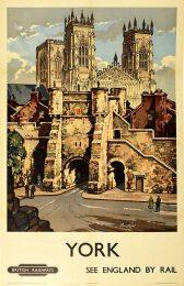 AN 14/210 British Railways York poster, artist Kenneth Steel