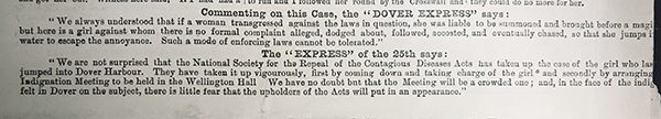 Newspaper article on the Burley case. Catalogue reference: HO 144/78/A4010