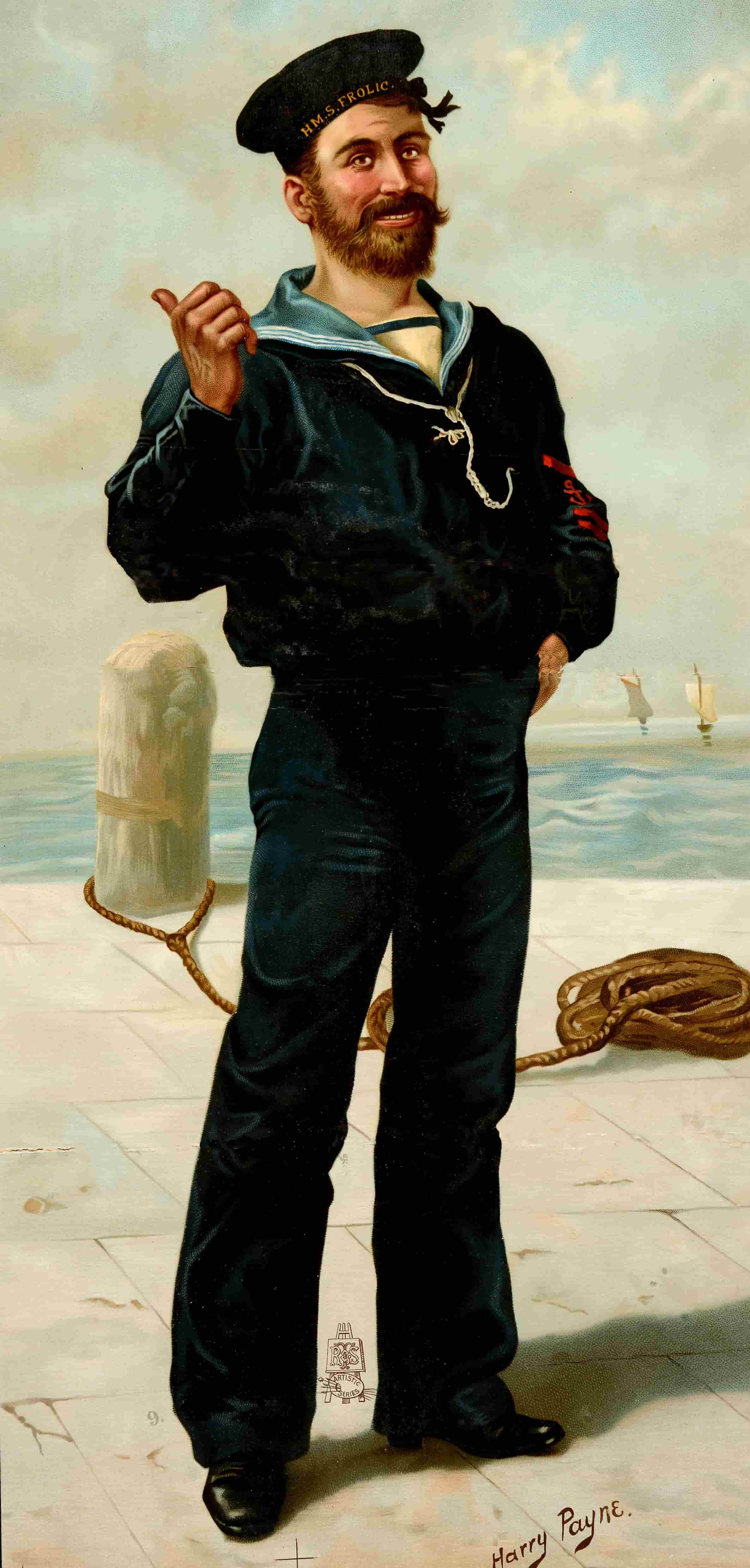 Image of 'Jack Tar' (a common term for sailors) by Harry Payne, 1893. Catalogue reference: COPY 1/108/436