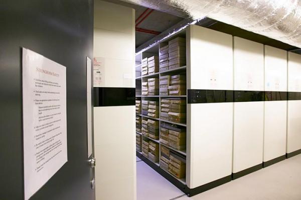 An archival strongroom