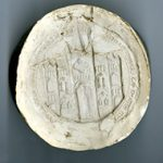 Colour photography using different light sources - PRO 23/335A (taken from E 322/211), the seal of Shaftesbury Abbey, Dorset, 1539