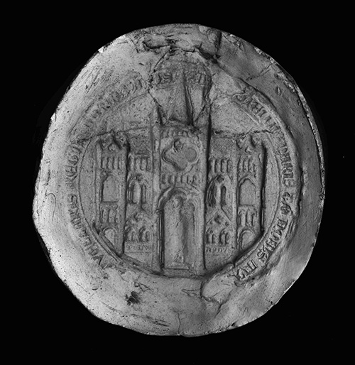 PRO 23/335A (taken from E 322/211), the seal of Shaftesbury Abbey, Dorset, 1539