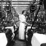 COPY 1/500 Weaving looms, 1906