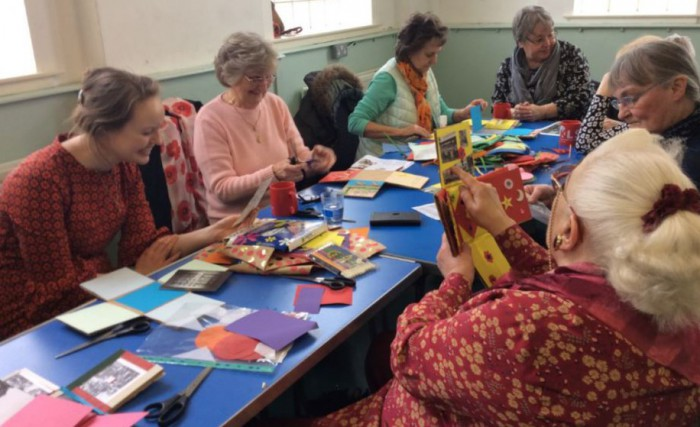 The Tuesday Group making memory boxes