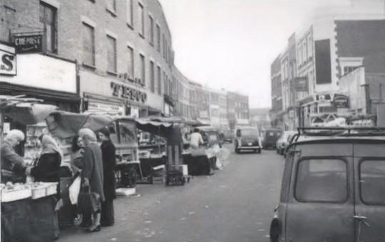 Battersea High Street market. 1976. Wandsworth Heritage Service