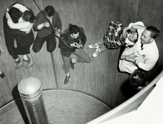 Inside the rotor, Batterea Pleasure Gardens, 1951. WORK 25/208