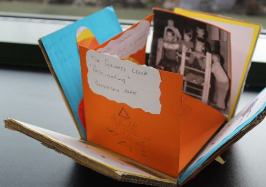 One of the memory boxes opened up