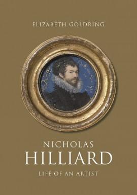 Self portrait of Nicholas Hilliard on gold book jacket