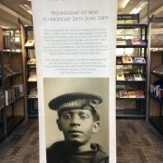 1919 Riots Exhibition Banner at Liverpool Record Office