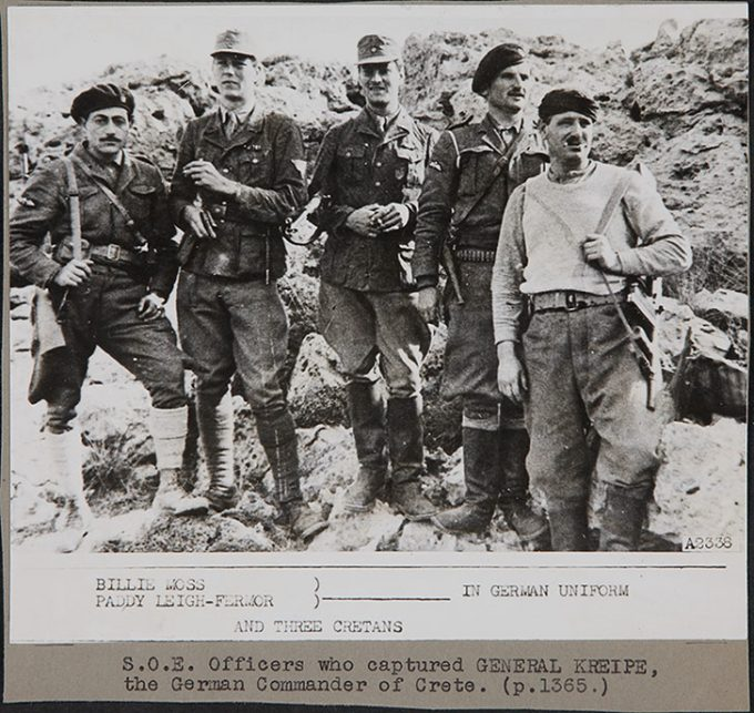 These are the SOE officers, among them Billie Moss and Patrick Leigh-Fermor, who captured the German Commander of Crete, General Kreipe, in the East Balkans in 1944.