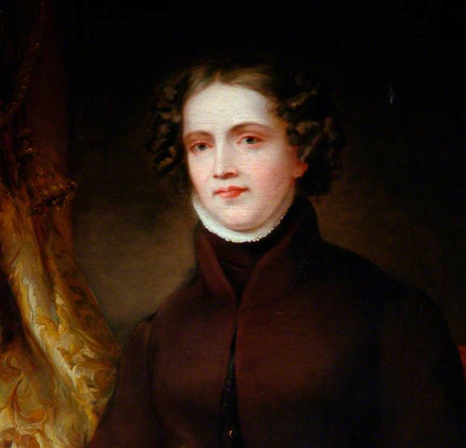 Portrait painting of Anne Lister (1791-1840) by Joshua Horner. It is estimated that it was painted by Horner in the year 1830.