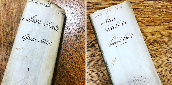 The wills of Anne Lister and Ann Walker.