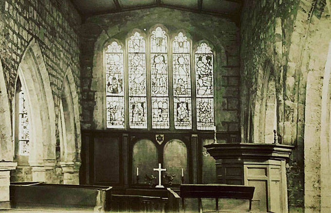 Photograph of the interior of Holy Trinity Church, Goodramgate, 1908, where Lister and Walker's marriage ceremony took place decades previously.