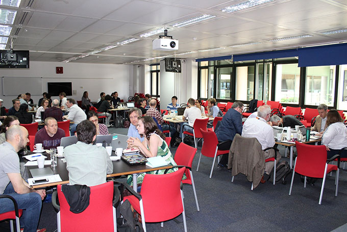 Room full of participants in the CAS: Exploring Data, Investigating Methodologies workshop held at The National Archives.