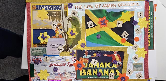 Images from a collection of zines created by the students from Fitzalan High School, using James Gillespie's life story as their inspiration.