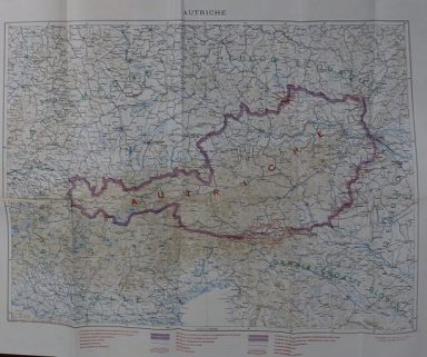 Boundaries of Austria by the Treaty of St Germain-en-Laye, 10 Sept, 1919, showing old boundaries and plebiscite area. TNA reference FO 925/20026