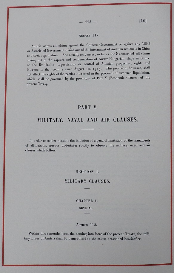Section 5, Military, naval and Air Clauses. TNA reference FO 93/11/74.