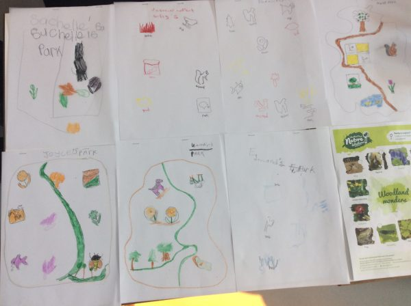 Participants produce designs of their own park