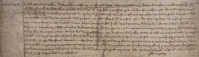 C 66/354, membrane 1 – pardon to Nicholas Bubwith, master of Chancery, for taking possession of the archdeaconry of Richmond and the prebend of Bole in York Minster, 14 June 1400: CPR 1399-1401, p. 43