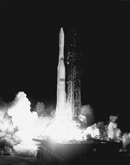 Delta-M rocket launch with Skynet 1a, 1969. Source: nasa gov