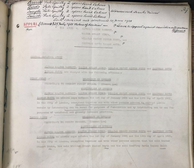 Image of indictments at the Central Criminal Court which commence criminal proceedings and set out the nature and date of the offence. 1921 31 May. Reference: CRIM 4/1435.