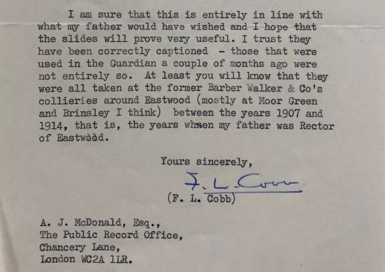 Extract of typed letter from F L Cobb to A J MacDonald of the Public Record Office dated 31 December 1972.
