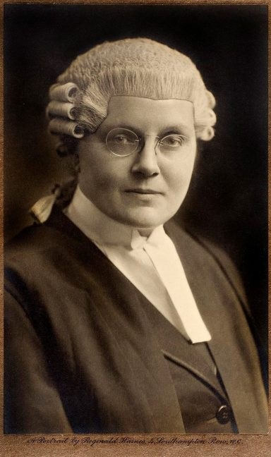 Photograph of Helena Normanton, first woman to be admitted to the Inns of Court.