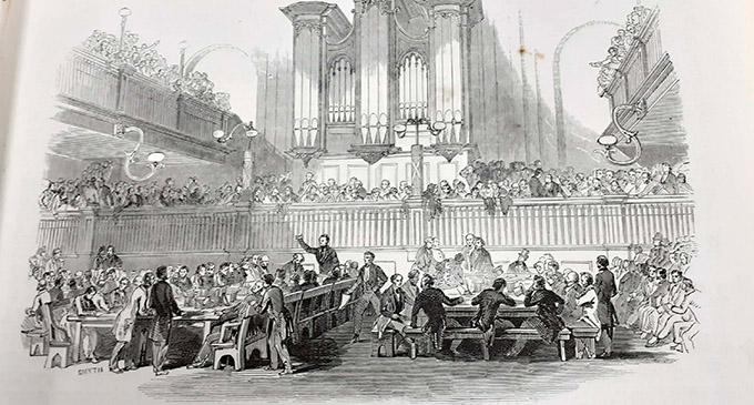 Illustrated London News image of a Chartist convention, dated 15 April 1848.