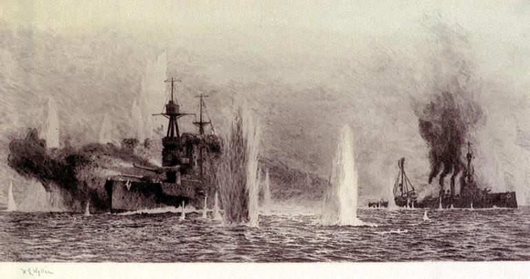HMS Warrior and HMS Warspite at the Battle of Jutland, 31 May 1916.