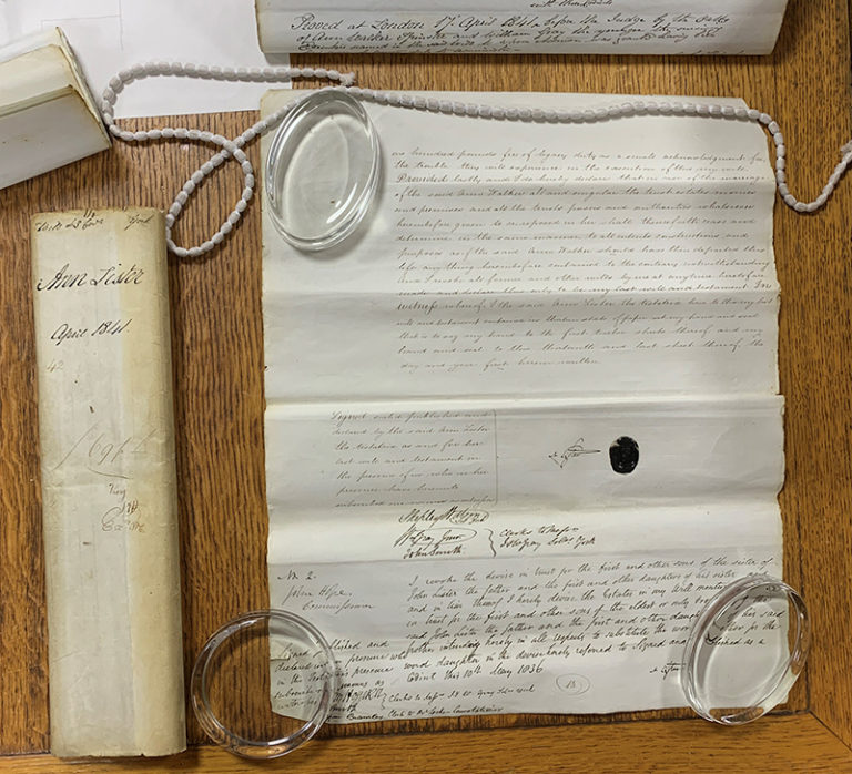 Image of Anne Lister's Will.