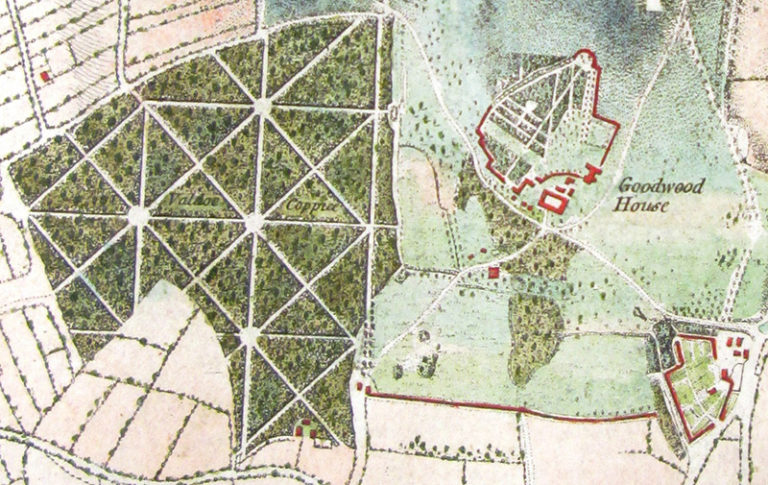 Extract of a map of Sussex surveyed by William Gardner and Thomas Yeakell, 1778-1780.