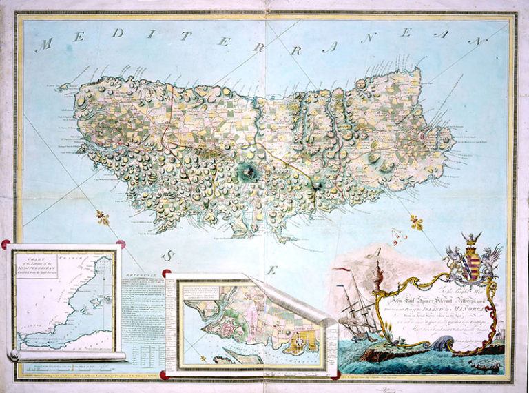 'General Plan of Island of Minorca' by Francis Assiotti, 1780.