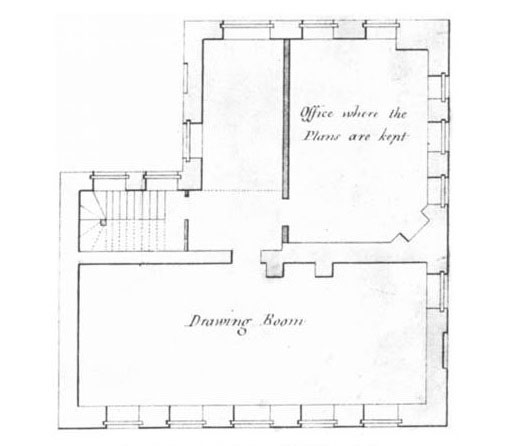 A Plan of the Drawing Room at the Tower, 1792.
