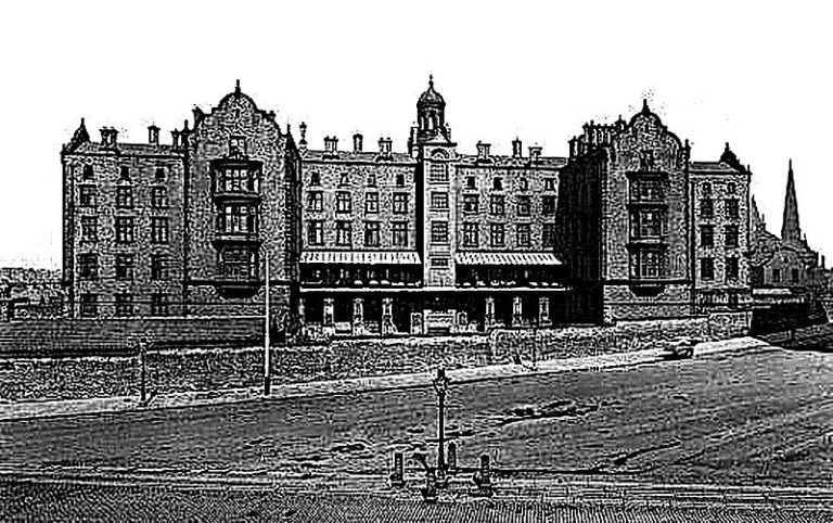 Grainy photograph of Brownlow Hill infirmary workhouse, Liverpool.
