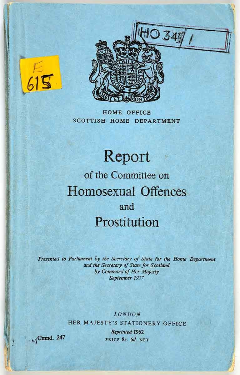 The Report of the Departmental Committee on Homosexual Offences and Prostitution (better known as the Wolfenden report), originally published in Britain on 4 September 1957.