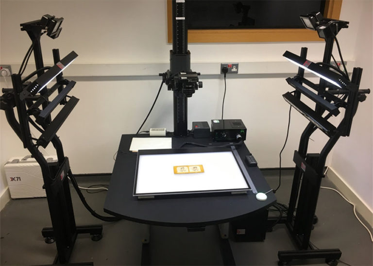 Multispectral imaging system used at The National Archives' Collection Care department.